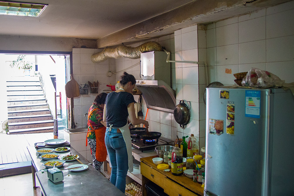 Cooking Class in our hostel in Chengdu