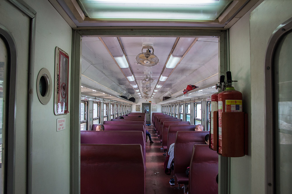 The hard seater train to Wulingyuan