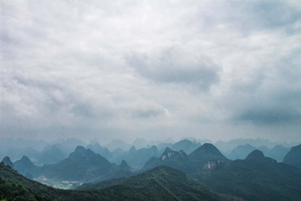 View from Yao Shan in Guilin 2
