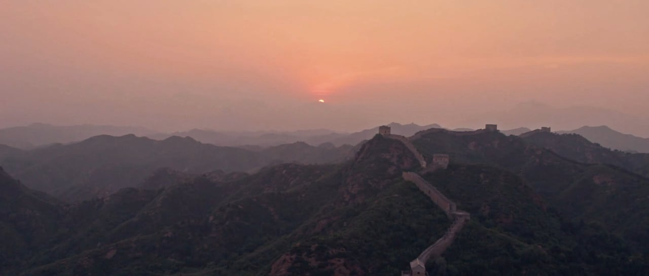 Sunset at the Great Wall of China