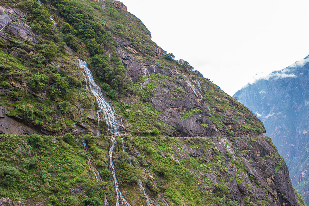 Waterfall at Tiger Leaping Gorge