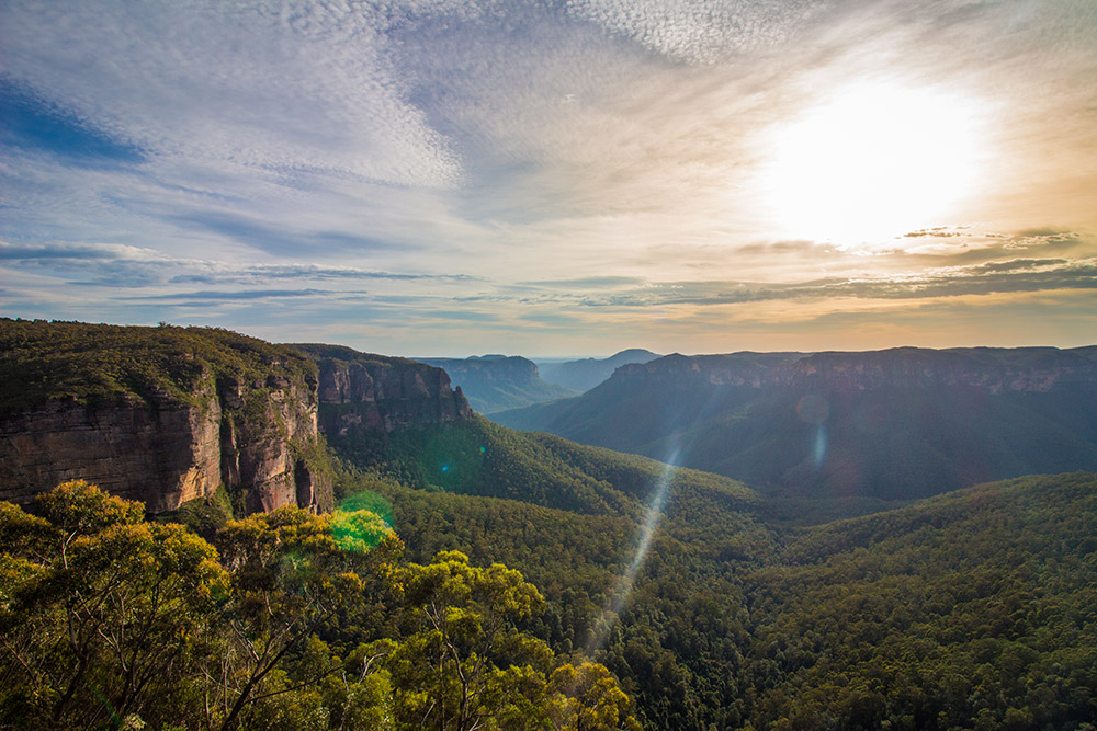 Sunrise at the Blue Mountains