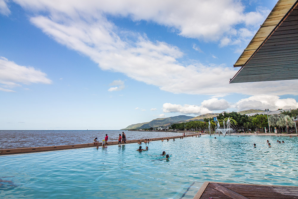 Public pool in Cairns