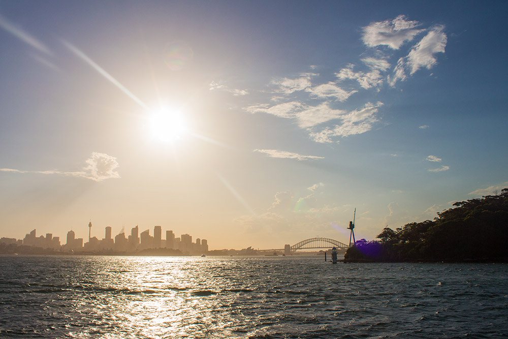 View on Sydney from water
